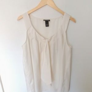 Lane Bryant | Cream Tie-Neck Blouse | Size 14/16